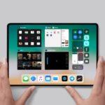 Concepto de boceto de iPad todo pantalla