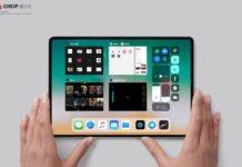Concepto de diseño de iPad todo pantalla
