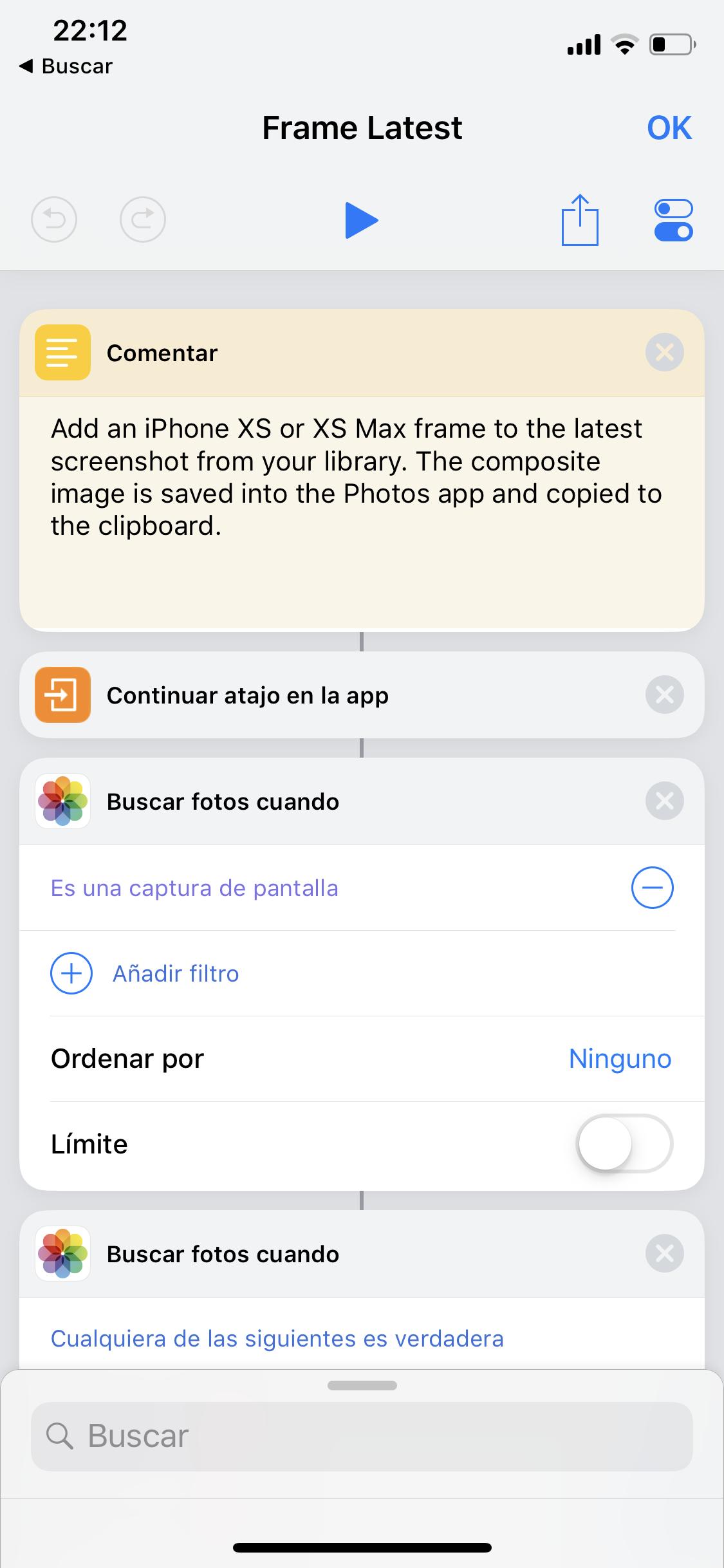 Creación de capturas de pantalla en un iPhone