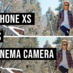 Comparación del iPhone XS con la Canon C200