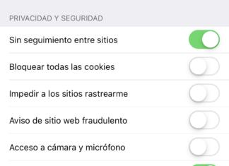 Ajustes de privacidad de Safari en iOS