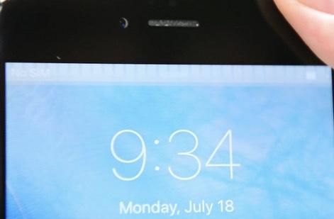 Problema del touch disease en la pantalla de un iPhone 6