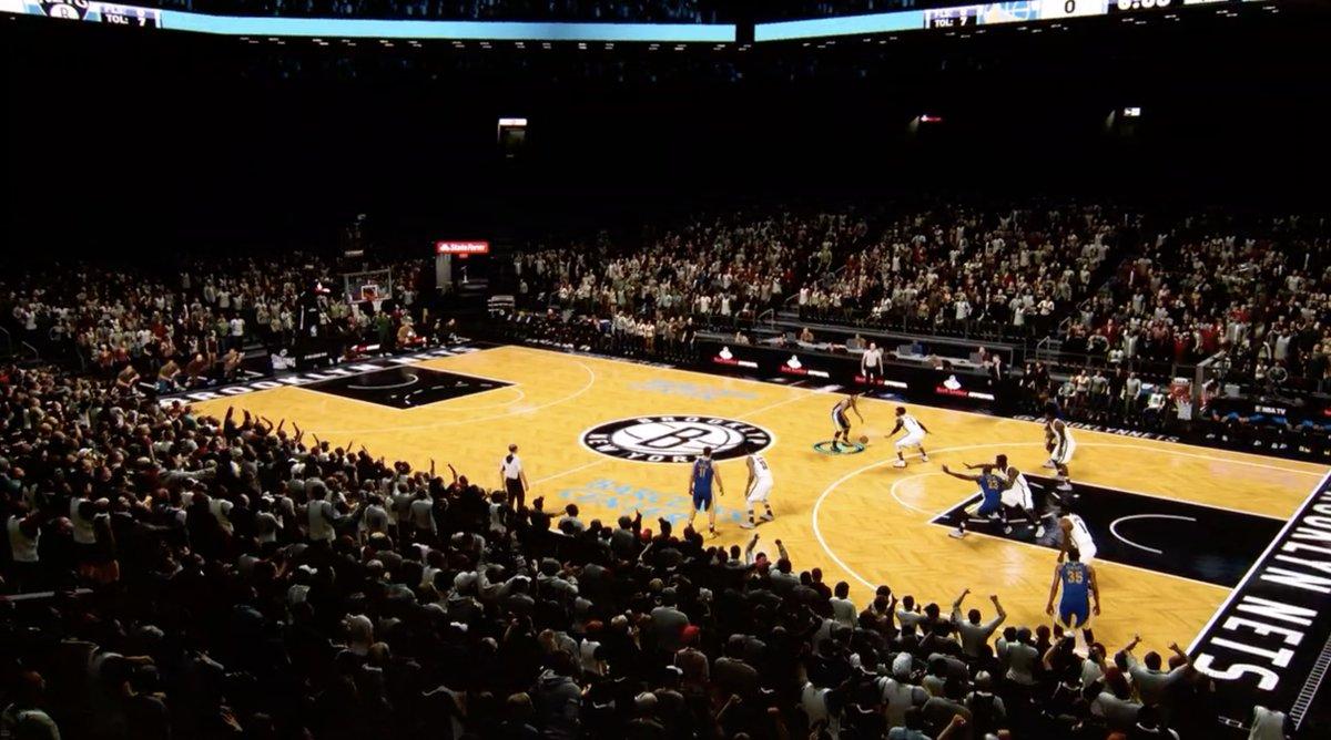 Juego de baloncesto de 2K Games que demuestra la potencia de la GPU del iPad Pro todo pantalla
