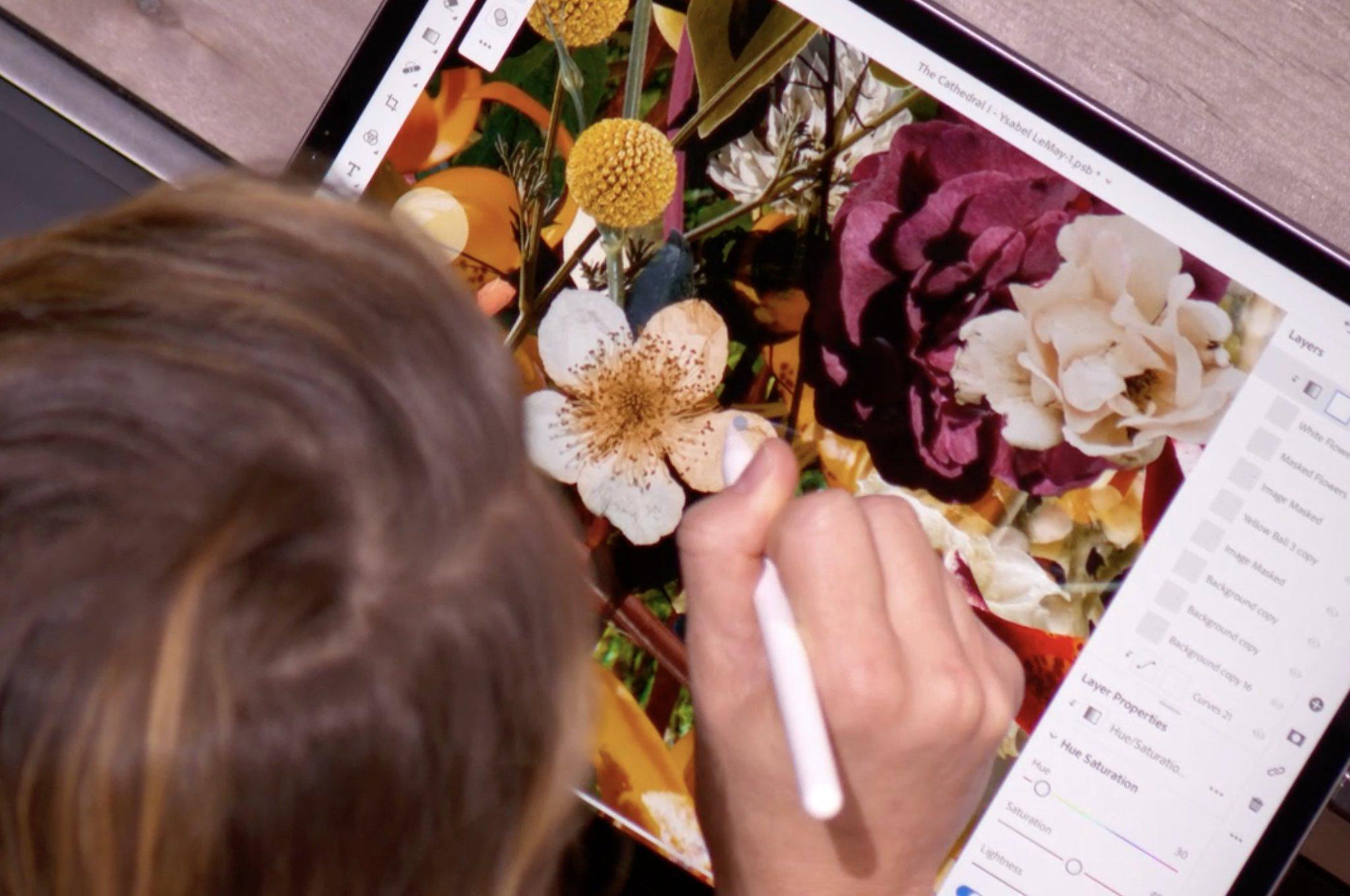 Utilizando el Apple Pencil con Photoshop en un iPad Pro