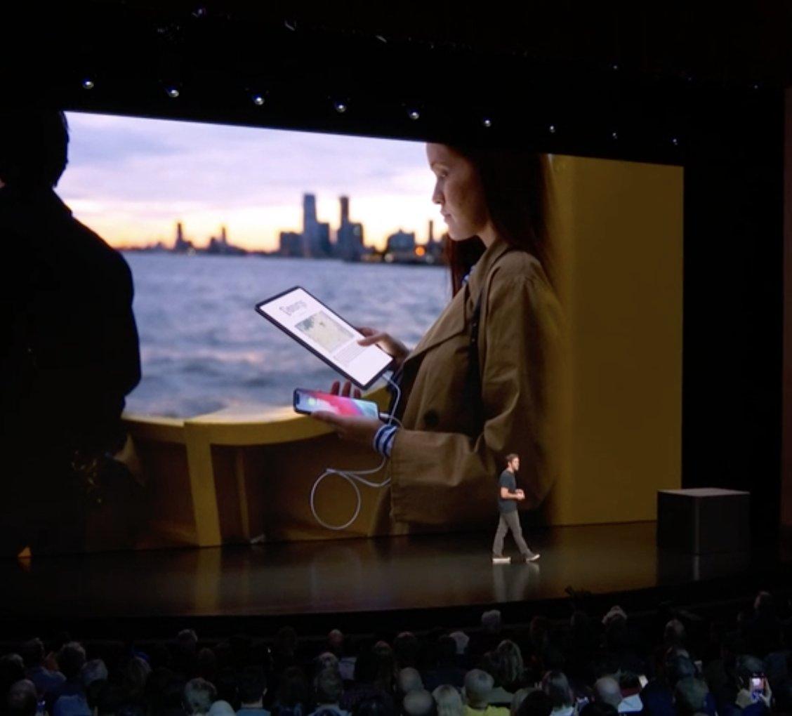 Cargando el iPhone con un iPad Pro