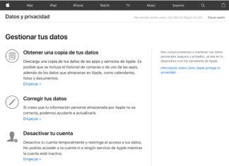 Portal de privacidad de datos de Apple