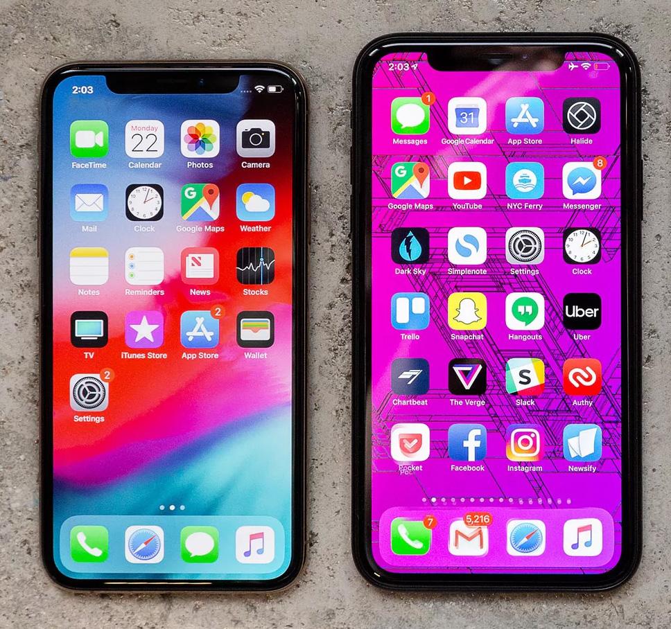 iPhone XR y XS