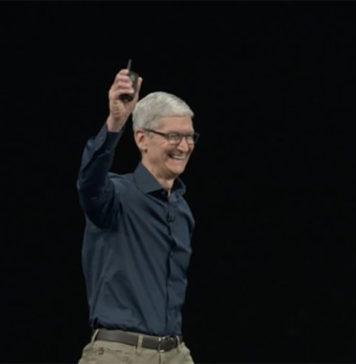 Tim Cook en la Keynote de presentación del iPhone XS en el 2018