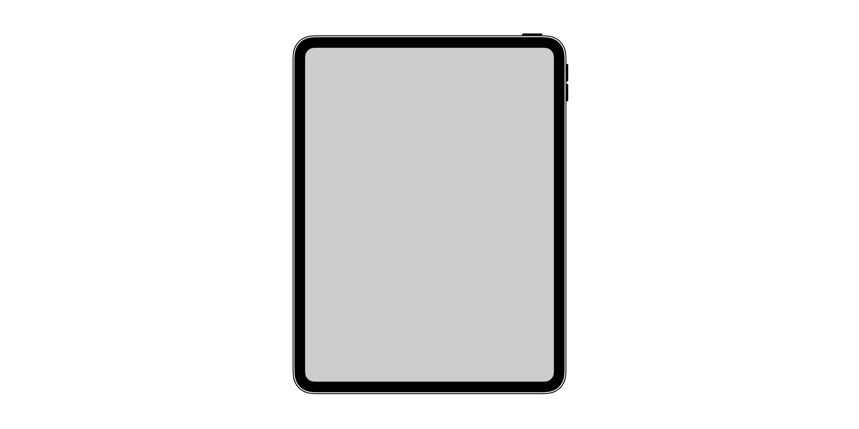 Icono de iPad todo pantalla en iOS 12