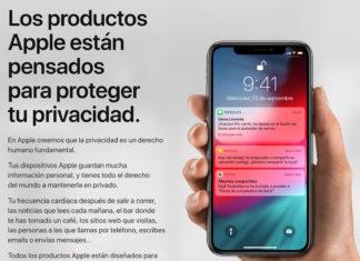 Web sobre privacidad de Apple