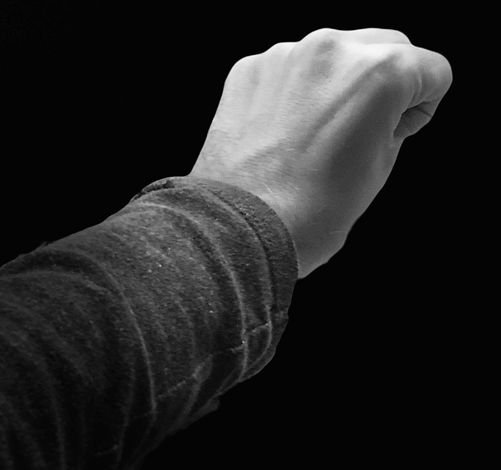 Foto retrato de un puño