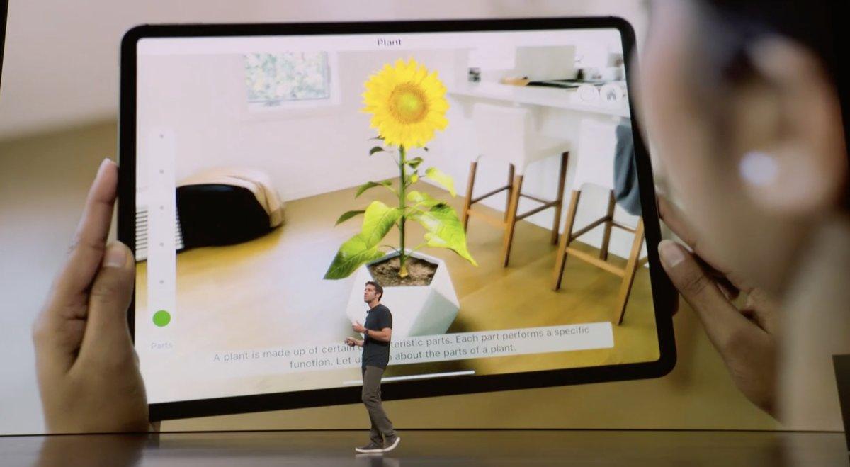 Realidad aumentada: Evento de presentación del iPad Pro todo pantalla, del Mac mini y del MacBook Air Retina