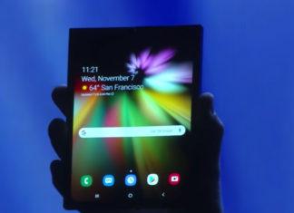 Prototipo de smartphone que se dobla de Samsung