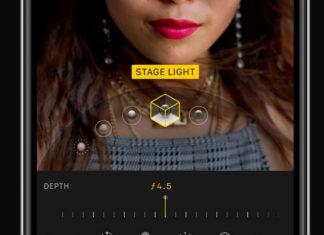 Editando número f para un retrato en la App de Fotos