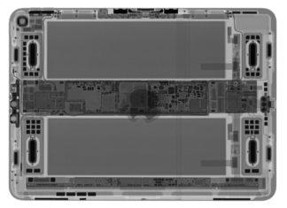 iPad Pro todo pantalla visto a rayos x