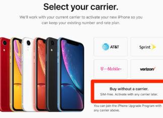 iPhone XR libre de fábrica en EEUU