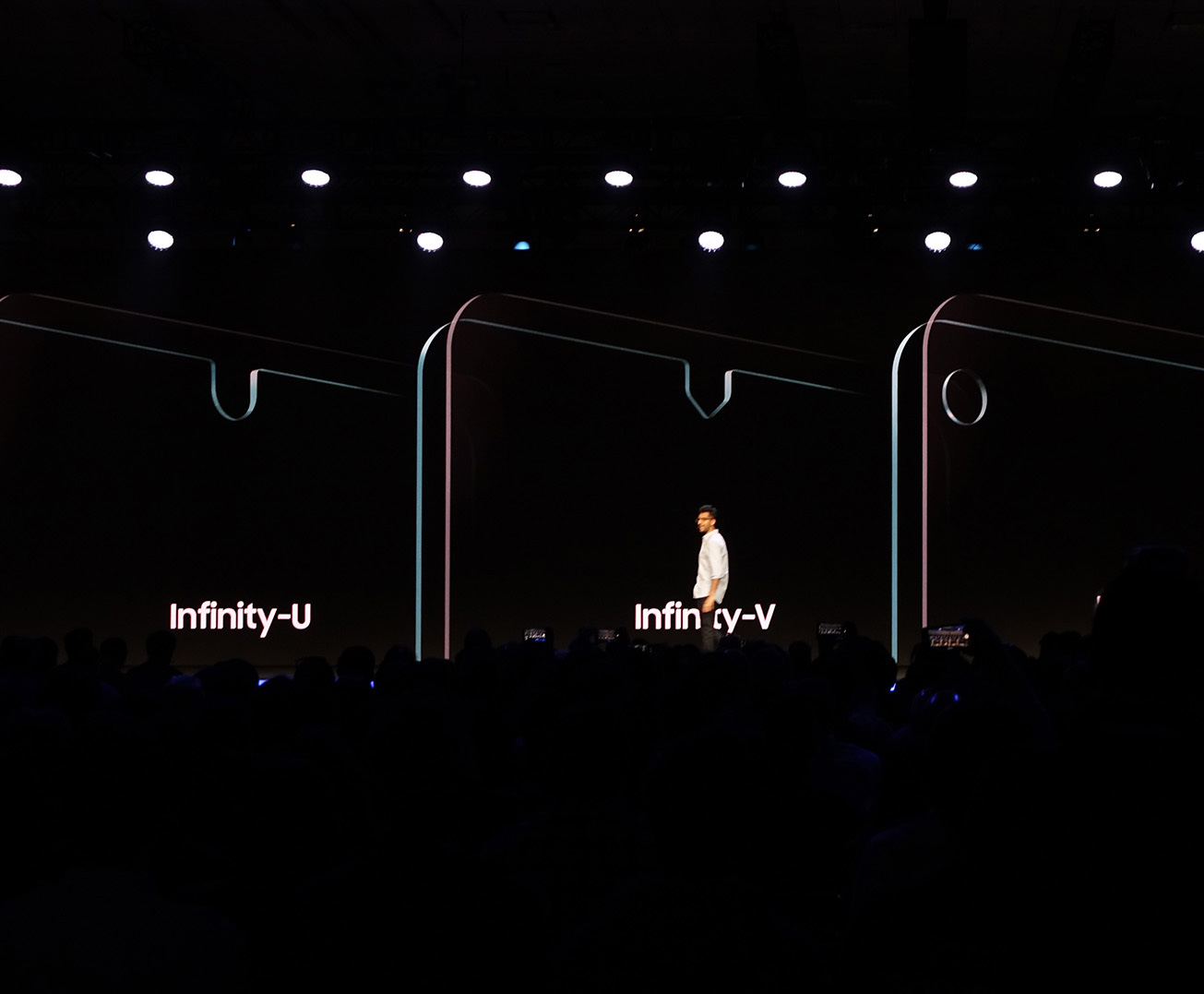 Samsung mostrando las solapas de futuros smartphones