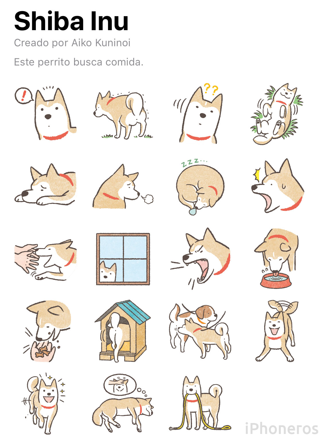 Sticker de Shiba Inu en WhatsApp