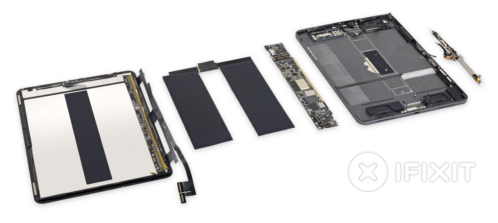 Todos los componentes de un iPad Pro del 2018