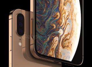 Concepto de diseño de iPhone XI con tres lentes