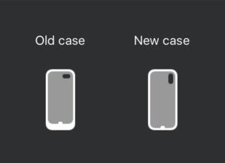 Icono de la funda con batería de Apple, para el iPhone XS