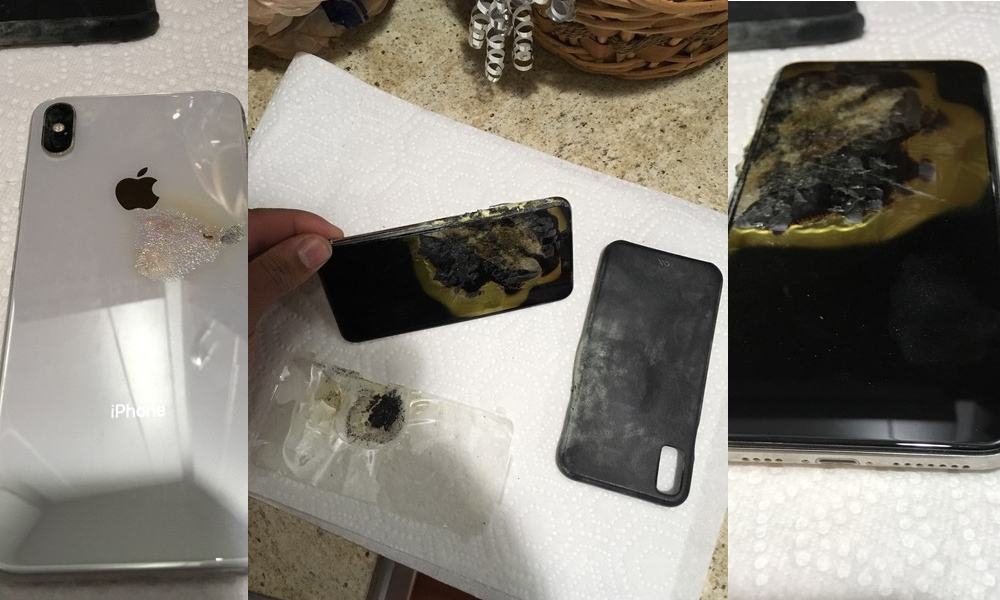 iPhone XS quemado