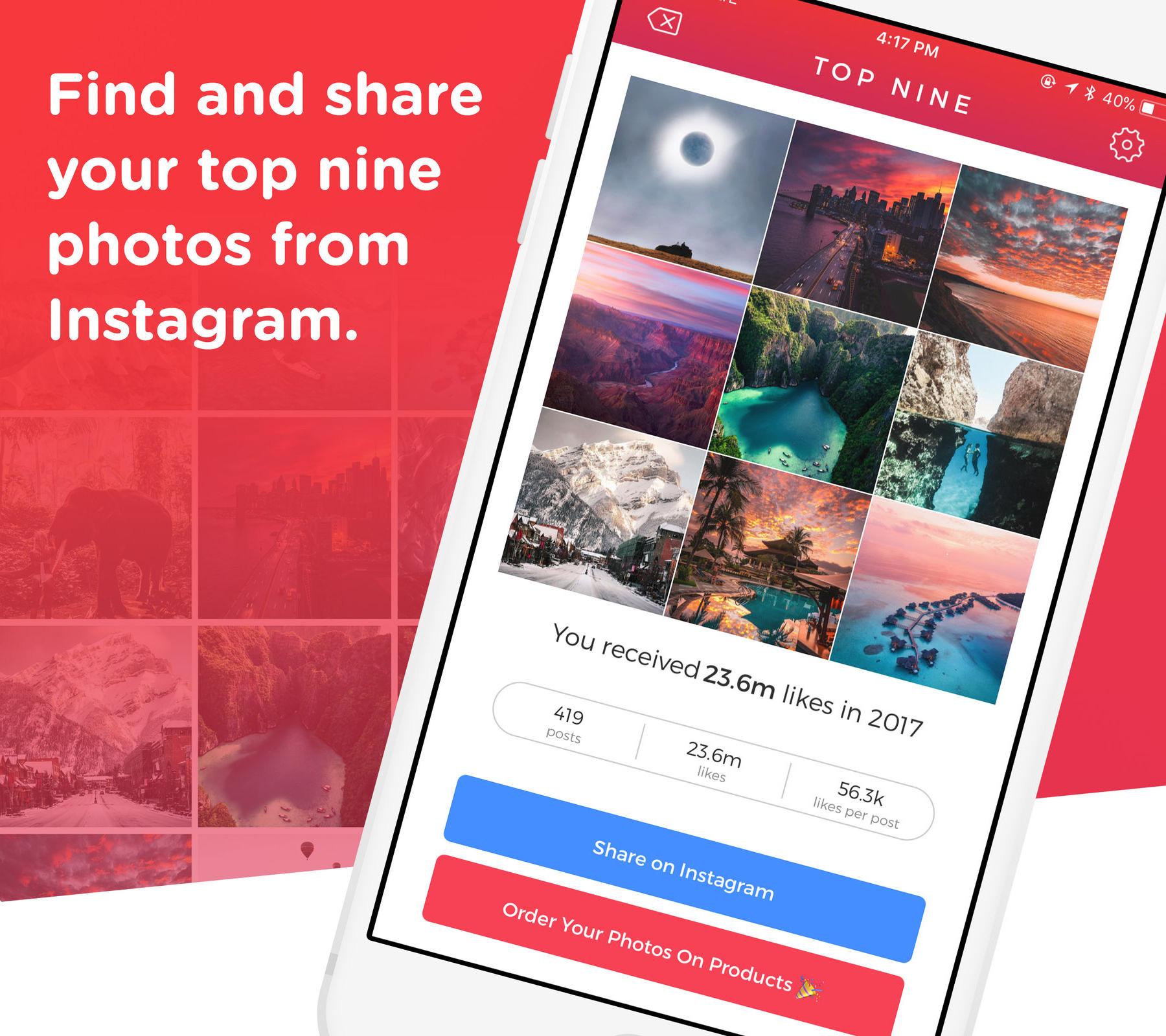 Nueve publicaciones más populares de Instagram: Top Nine
