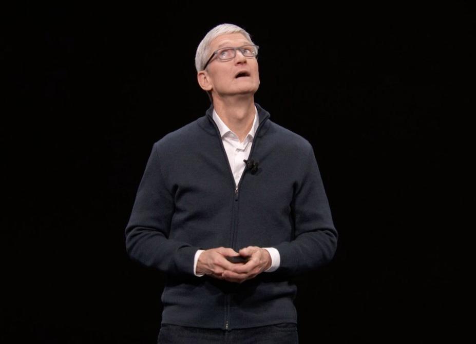 Tim Cook durante la presentación del iPhone XS