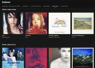 Artistas recomendados en Spotify