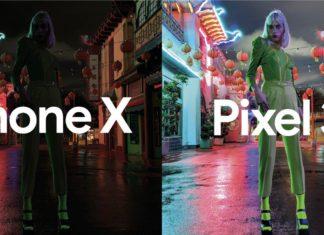 Comparación de foto hecha de noche en un Pixel 3 y un iPhone XS
