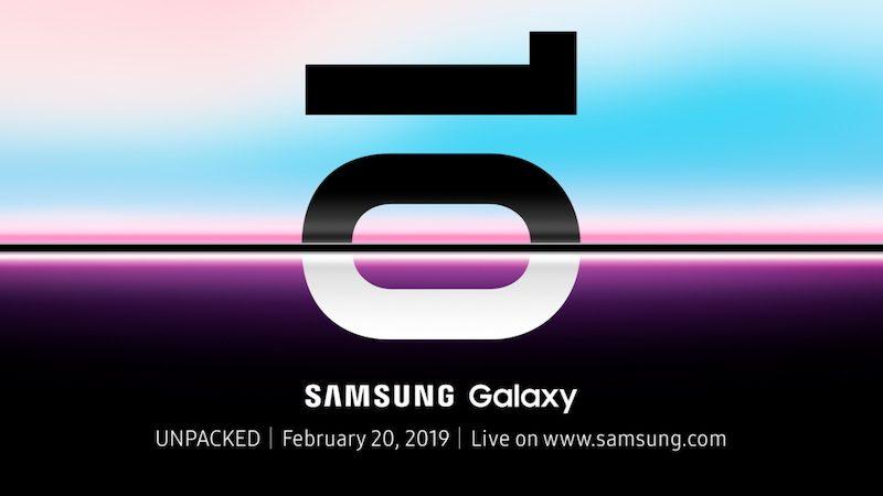 Invitación para ver el Samsung Galaxy S10
