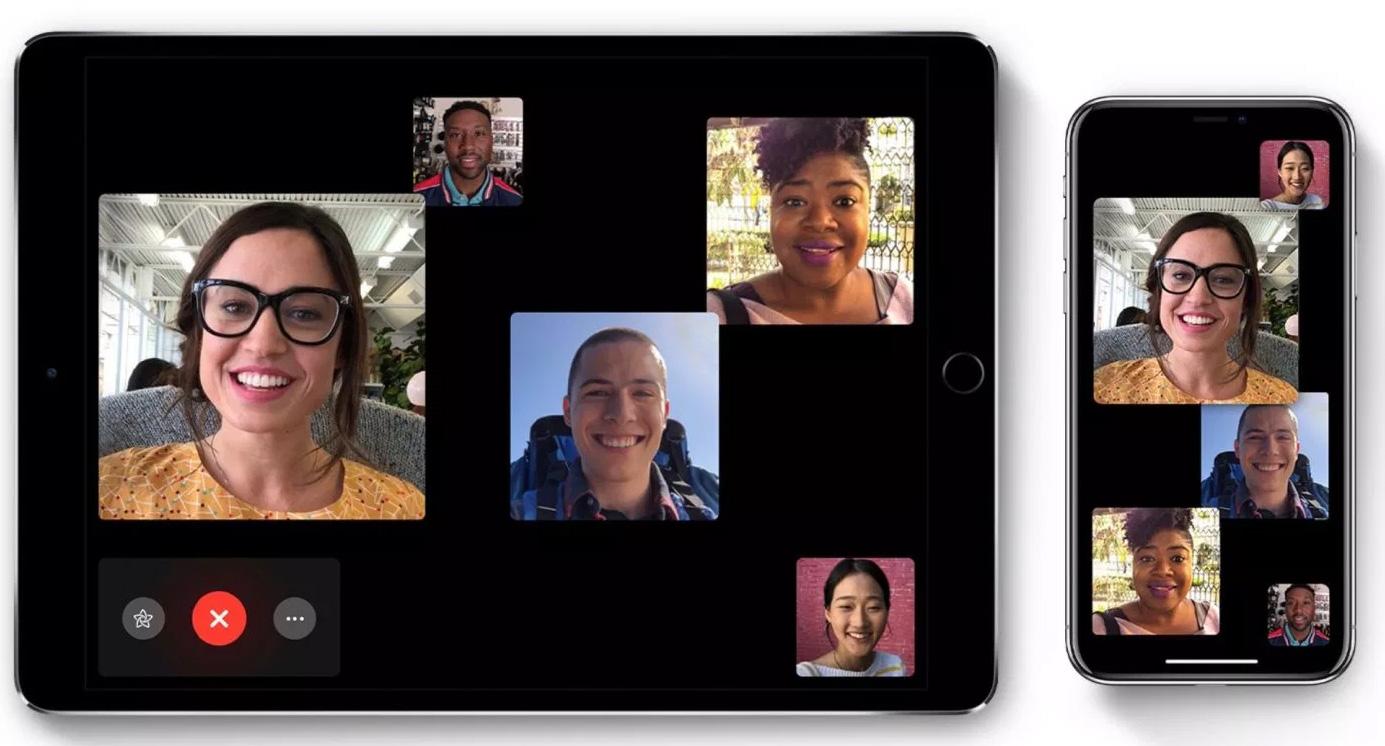 Llamadas de FaceTime en grupo entre dispositivos iOS