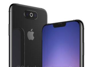 Imagen generada por ordenador de un hipotético iPhone XI con tres cámaras traseras