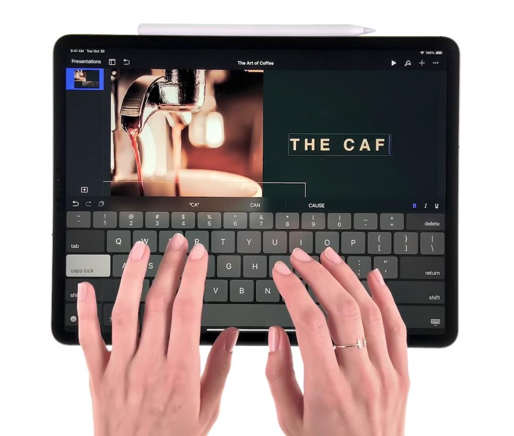 Tecleando en el iPad Pro