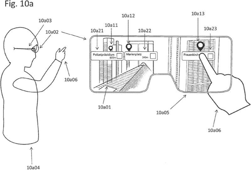 Patente de Apple de gafas de realidad aumentada