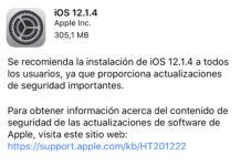 iOS 12.1.4 ya disponible
