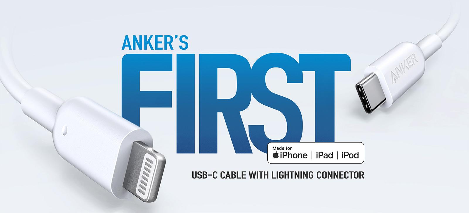 Cable USB-C a Lightning de Anker