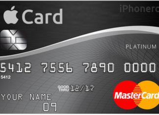 Imaginaria tarjeta de crédito de Apple Card
