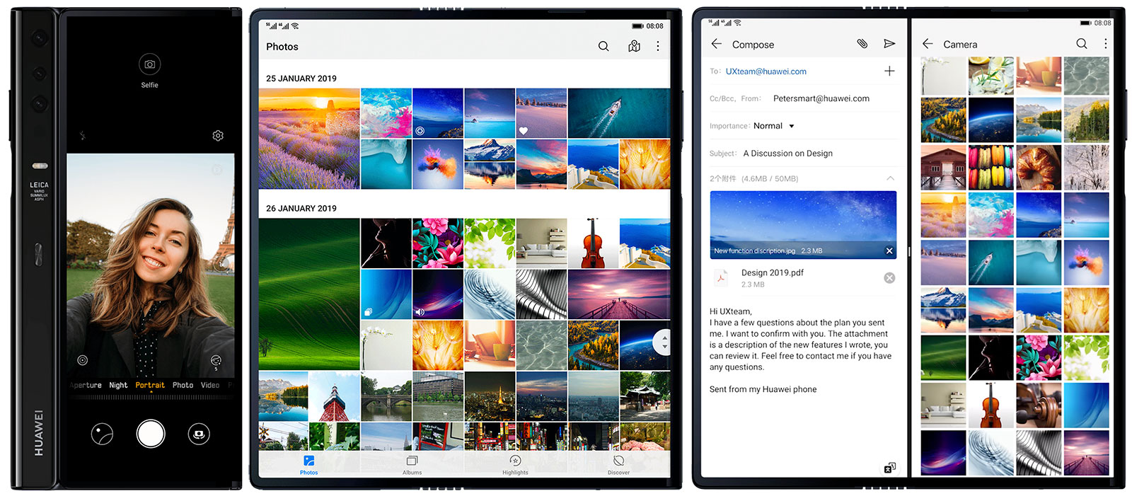 Apps del Huawei Mate X