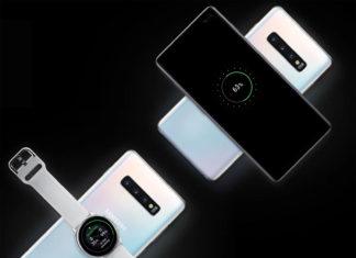 Galaxy S10 de Samsung cargando otros dispositivos inalámbricamente