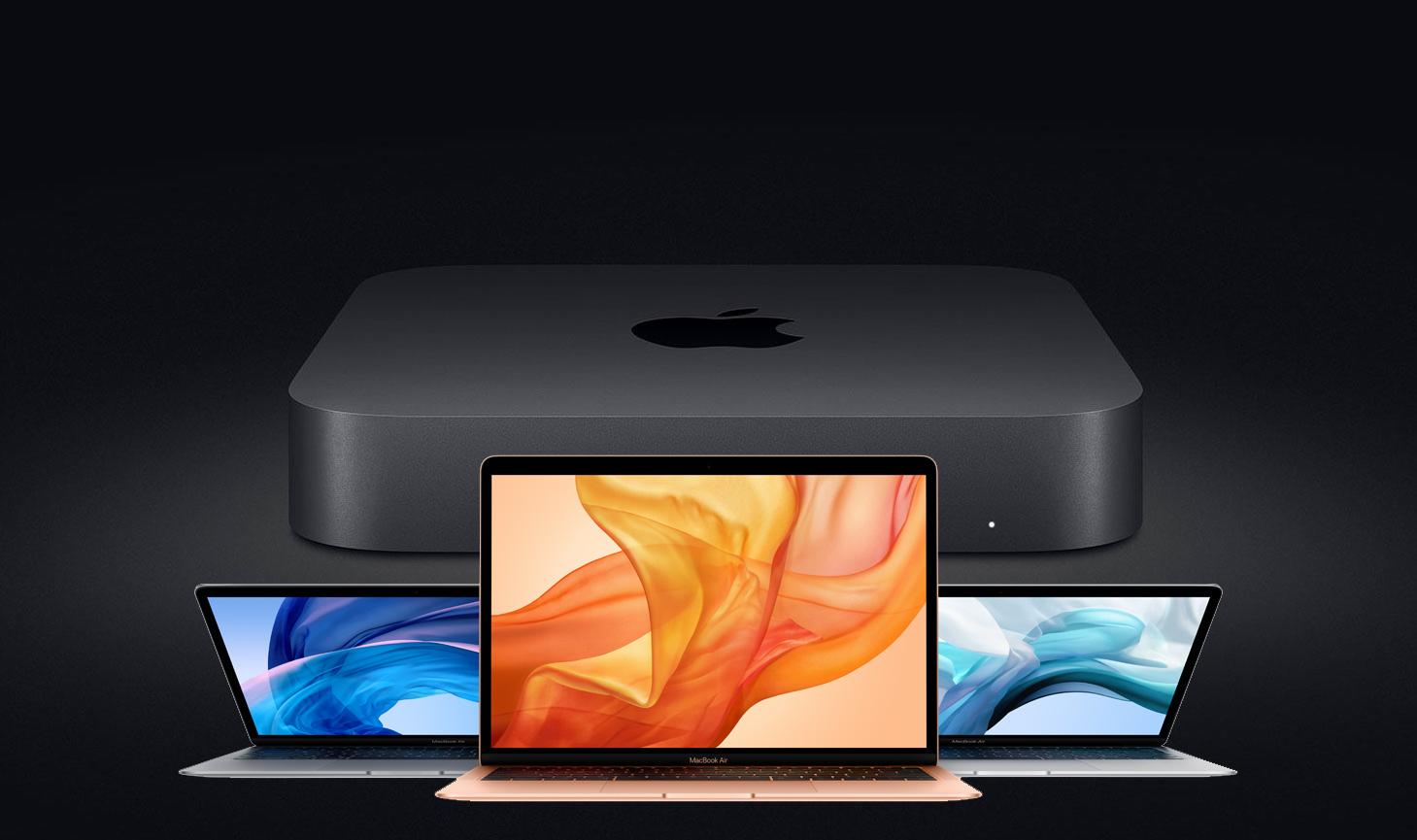 MacBook Air Retina y Mac mini