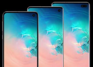 De izquierda a derecha, el Samsung Galaxy S10e, S10 y S10+