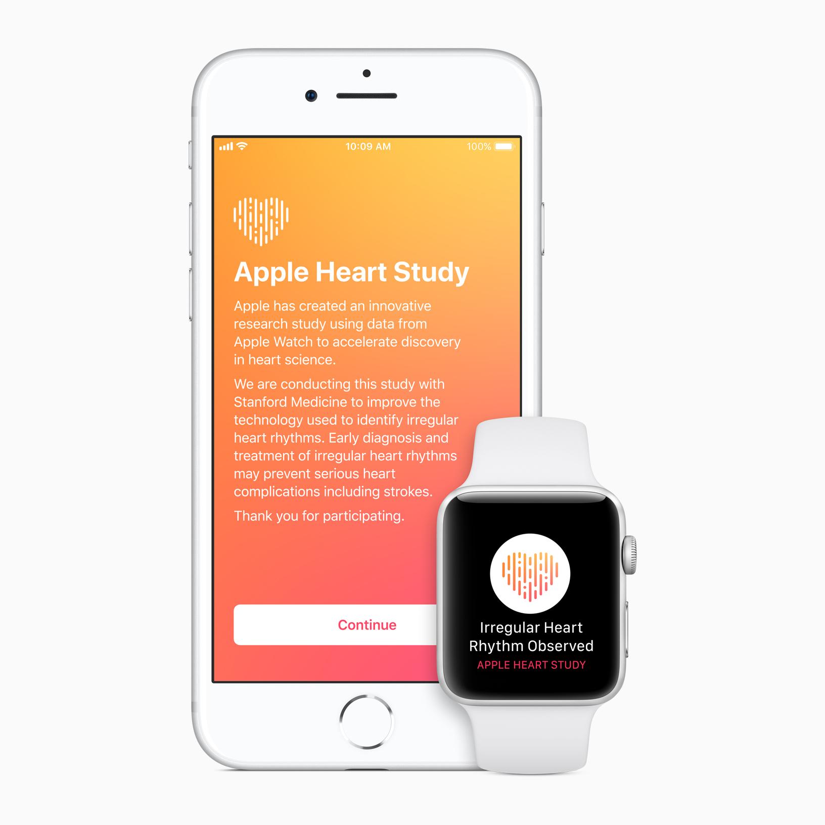 Estudio médico de Apple con Stanford