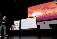 Tim Cook delante de un iPhone, iPad, iMac