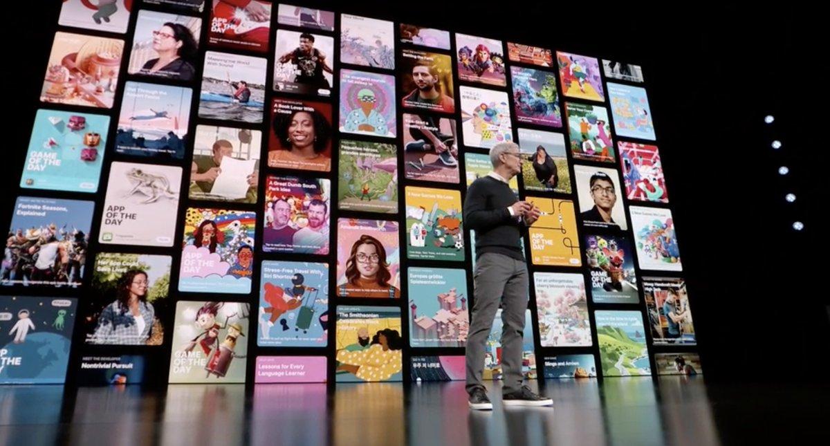 Tim Cook - Muchos videojuegos en la App Store - Keynote It's Show Time de Marzo de 2019