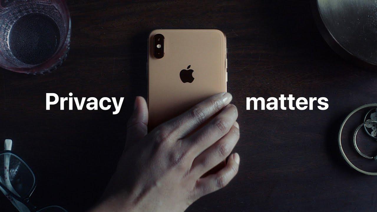 La privacidad importa, en un anuncio del iPhone