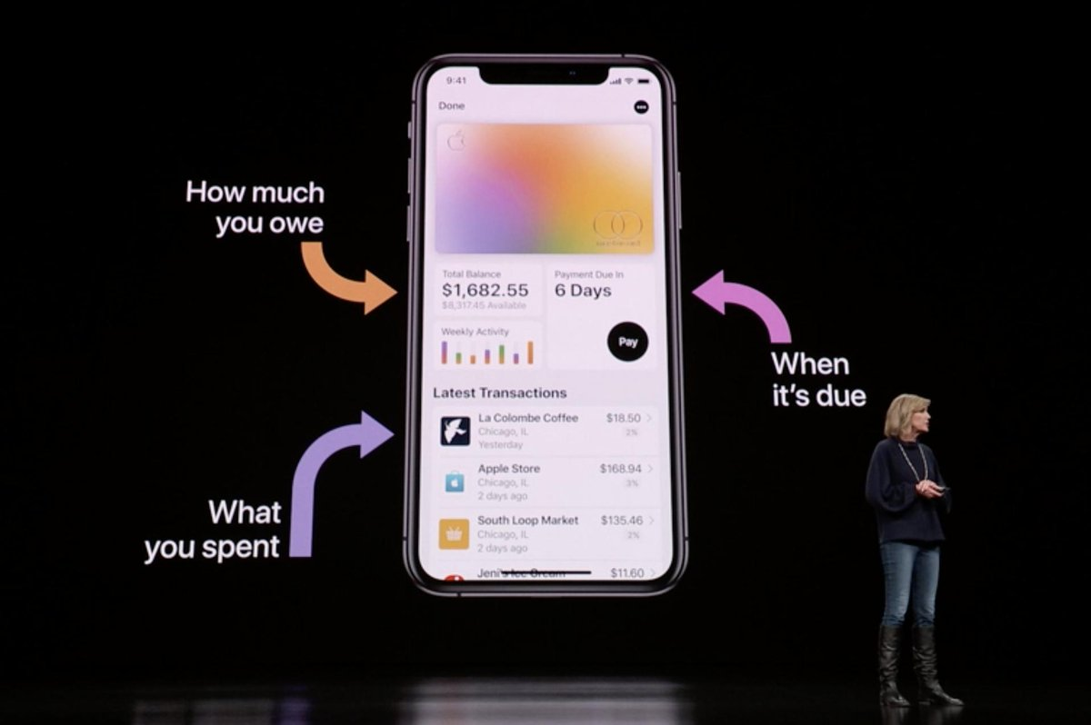 Integración de la App de Apple Card en el iPhone