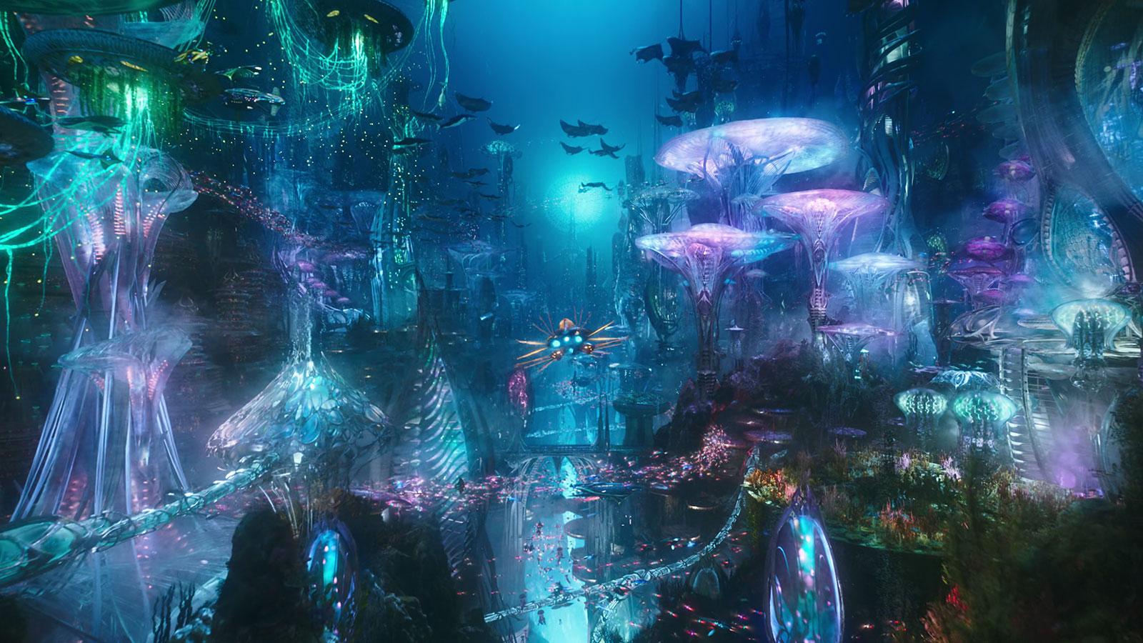 Fotograma de la película pirateada de Aquaman