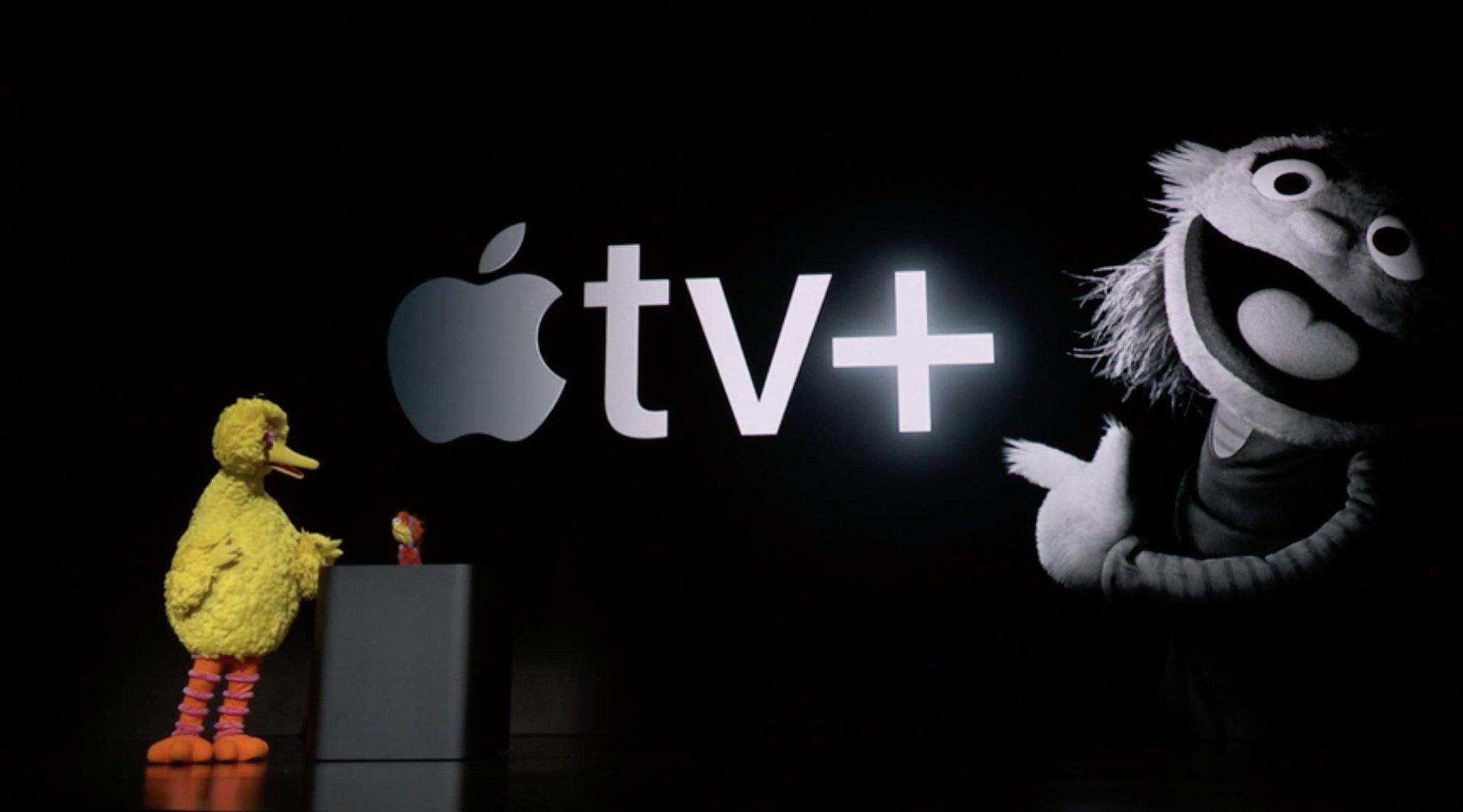 Barrio Sesamo con Big Bird en una Keynote de Apple