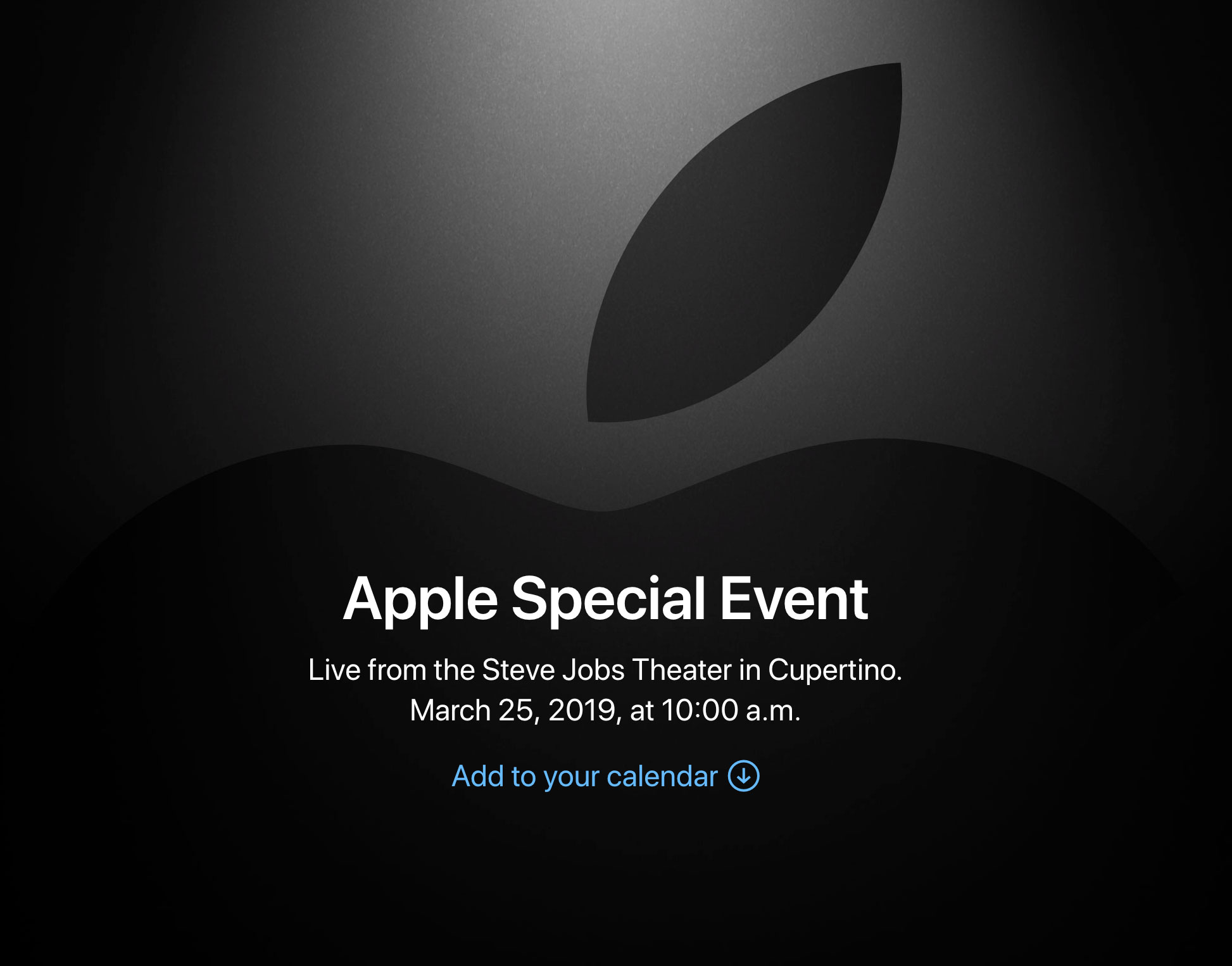 Evento especial de Apple relacionado con el vídeo